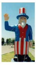Uncle Sam patriotic advertising inflatable